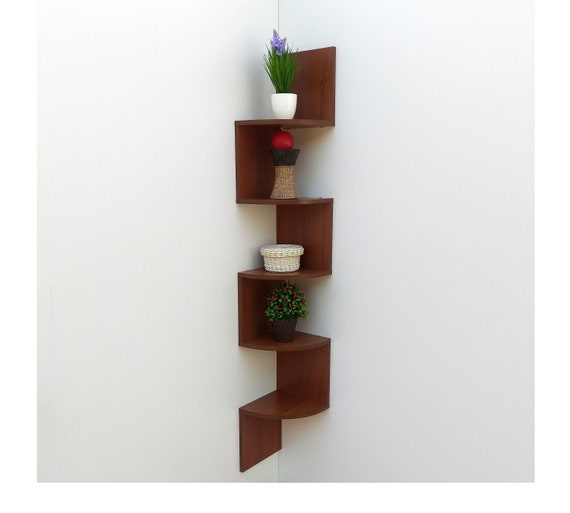 Modern Corner Shelf UP 5 2 Shelves Wall