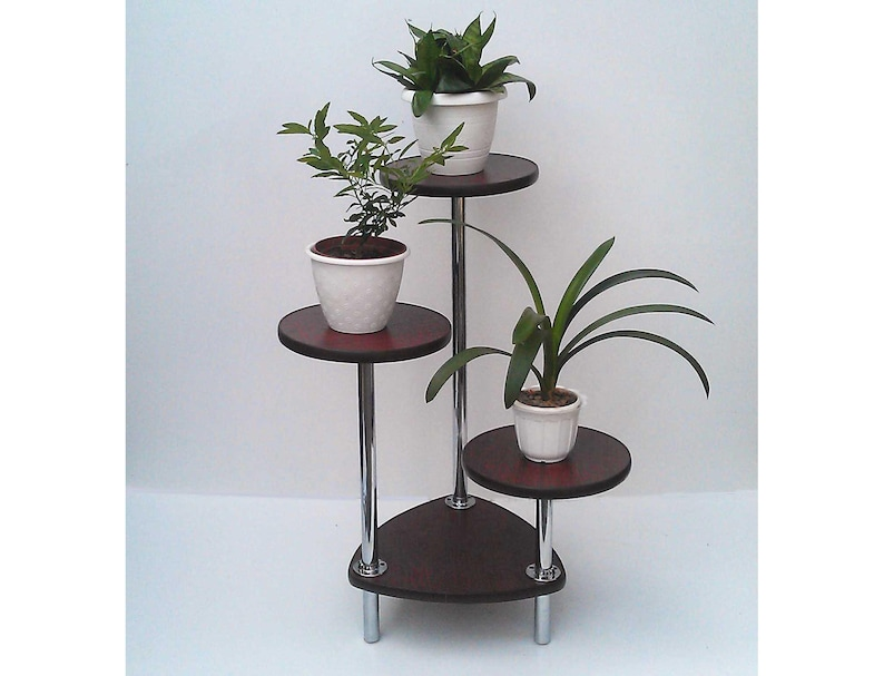 Tiered plant stand Orleans 2 Indoor plant stand Wood plant stand Mid  century Modern Plant stand Indoor planters Planter Plant stands indoor