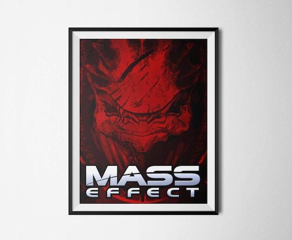 MASS EFFECT KROGAN wall art print