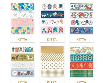 KITTA Washi Tape stickers (g) |  pre-cut masking tapes | washi tapes | kawaii planner stickers | planner accessories