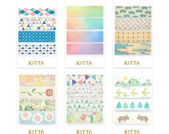 KITTA Washi Tape stickers (d) |  pre-cut masking tapes | washi tapes | kawaii planner stickers | planner accessories