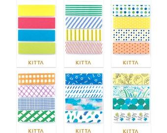 KITTA Washi Tape stickers (f) |  pre-cut masking tapes | washi tapes | kawaii planner stickers | planner accessories