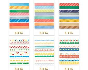 KITTA Washi Tape stickers (Slim) |  pre-cut masking tapes | washi tapes | kawaii planner stickers | planner accessories