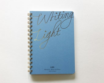 LIFE Writing Light Notebook  ( A6 / Ruled ) | spiral bound notebook | japanese notebook | japanese stationery