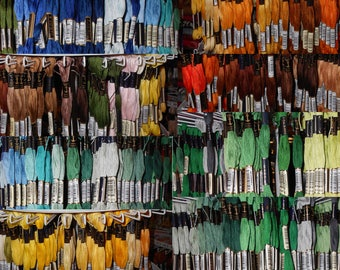 Anchor Sticktwist 6-thread 8 M 100/% Bw Multicolor 1335
