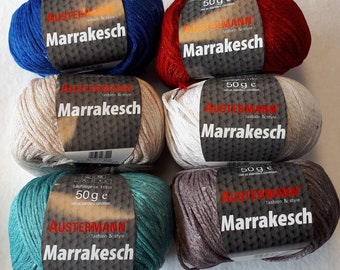 Silk optic yarn by AUSTERMANN MARRAKESCH! SALE!!! Yarn with paillettes for glamour summer projects!