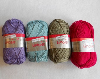 Limone yarn, Amigurumi, 100% cotton wool, Schoeller Stahl, high quality combed and mercerized cotton, crocheting, knitting, summer projects
