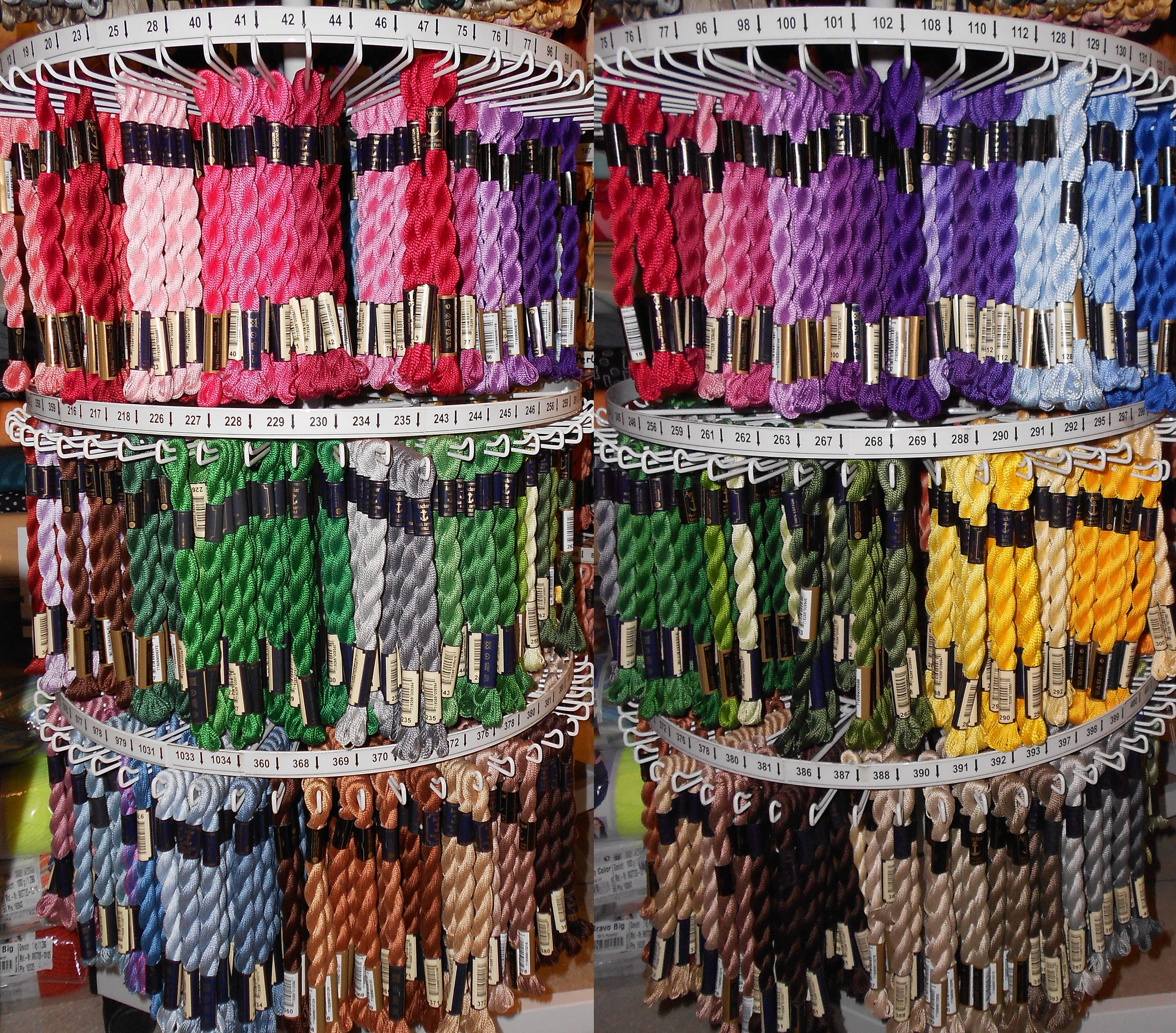 Anchor Stranded Cotton 8m Colours 314-340 100/% Cotton Embroidery Thread Skeins