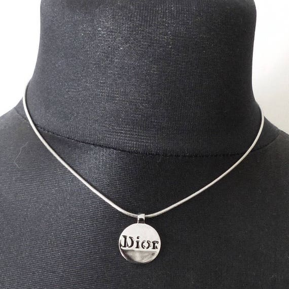 Authentic CHRISTIAN DIOR Gold plated necklace. CD Logo   Etsy 854ee66006