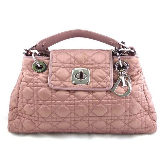 Borsa a mano Cannage DIOR autentica. Borsa Pink Lady Dior   Etsy 85cfd66b1a