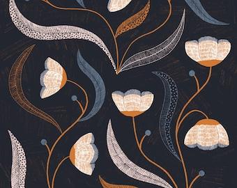 Dark Floral Print