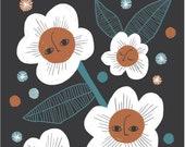 Night Flowers Print