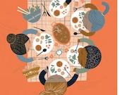 Foodie Friends Print