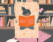 Reading Girl Print