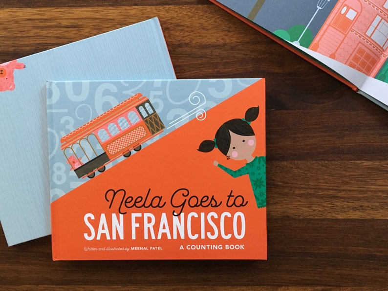 Neela Goes to San Francisco Children's Book SIGNED image 0