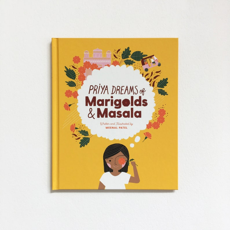 Priya Dreams of Marigolds & Masala Children's Book image 0