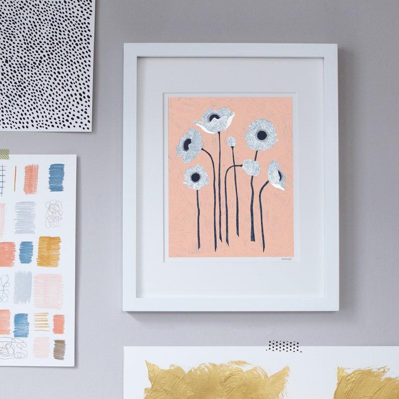 Poppy Flower Conversations Print