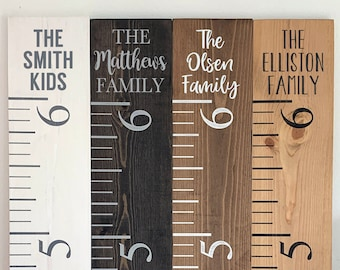 Family Growth Chart | Kids Growth Ruler | Rustic Ruler | Personalized Growth Chart | Custom Ruler | Kids Room Decor | White Ruler