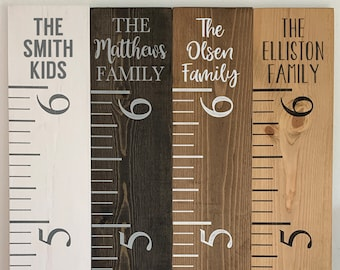 Personalized Growth Chart Etsy
