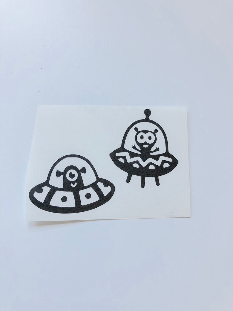 Alien sticker vinyl sticker galaxy sticker tumblr sticker etsy