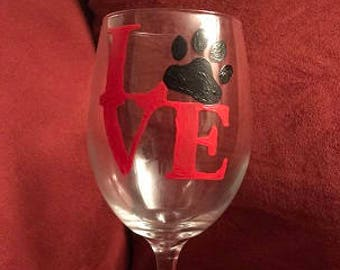 Pet Love Hand Painted Glass