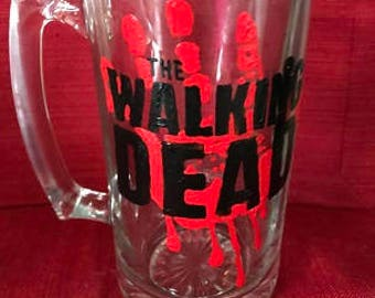 The Walking Dead Hand Painted Glass