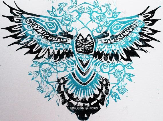 Lino-cut Folk art