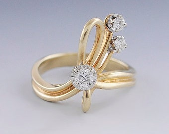 14K Solid Yellow Gold 10mm Ladies CZ Fancy Wide Band Fashion Ring