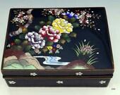 c1900 Stunning Japanese Meiji Period Cloisonné Floral Box