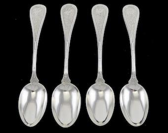"Wallace Hamilton Teaspoon /""N/"" Monogram Sterling Silver Flatware"