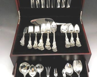 EXCELLENT CONDITION TOWLE QUEEN ELIZABETH I STERLING SILVER SALAD FORK