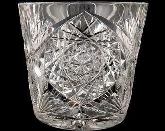 Antique Hoare American Brilliant Period ABP Cut Glass Ice Bucket or Vase
