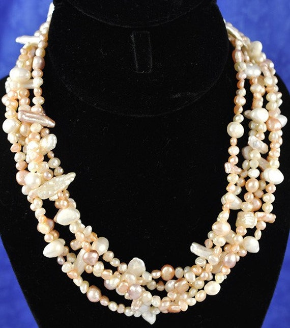 White Bridal Prom Jewelry Large White Faux Pearl Necklace 14mm