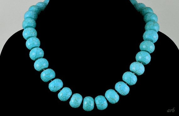 Sparkling Crystal and Blue Magnesite Focal Bead