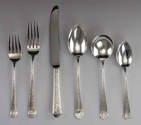"7 7//8"" 1894 s HEAVY!! Gorham King George Sterling Dinner Fork"