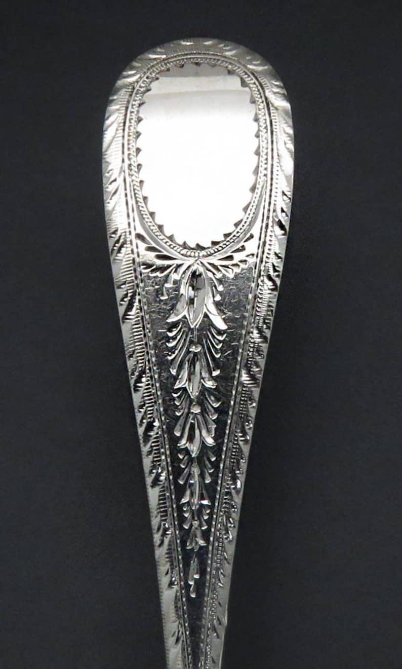 11 1850/'s Farrington /& Hunnewell Coin Silver Bright Cut Demitasse Spoons