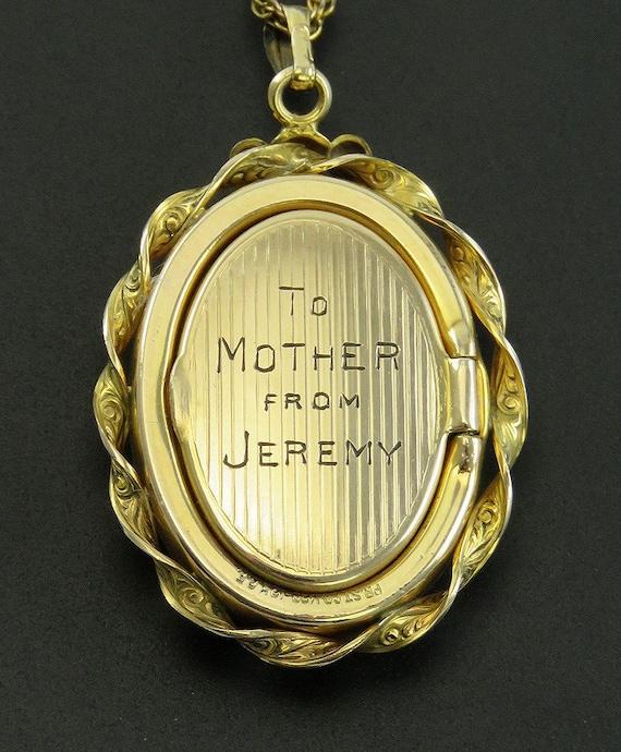 c1940s Harvard Mother of Pearl Enamel Gold Filled… - image 4