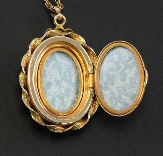 c1940s Harvard Mother of Pearl Enamel Gold Filled… - image 6