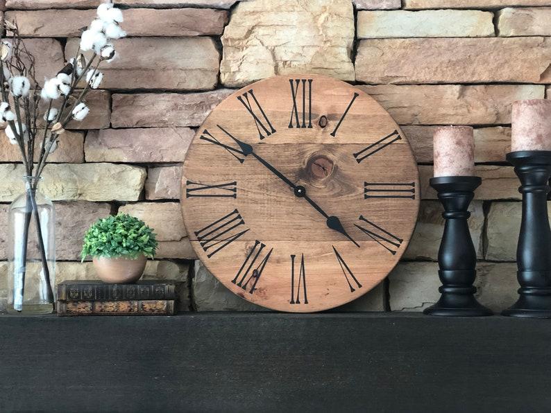 18 inch Farmhouse Clock/Large Wall Clock/Farmhouse Wall image 0