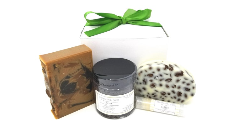 Coffee bath and body gift box spa gift set for her coffee image 0