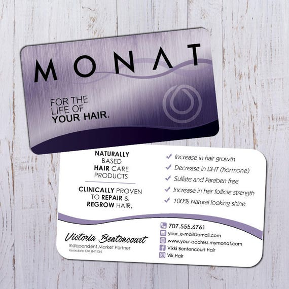 Monat business cards silver purple design with white back etsy image 0 colourmoves
