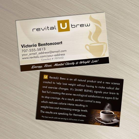 Revital U Brew Business Cards Tan Design Durable 16pt Etsy