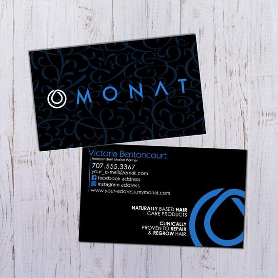 Monat PDF Prt Impression Cartes De Visite Noir Avec Motif