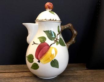 Vintage coffee pot, vintage teapot, Villeroy & Boch Coffee Pot, Ma Pomme, German ceramic coffee pot, German pottery coffee pot, home decor