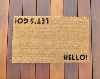 Hello! / Let's Go!™ Door Mat (doormat) - perfect housewarming gift