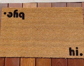 Hi / Bye Door Mat (doormat) - perfect housewarming gift