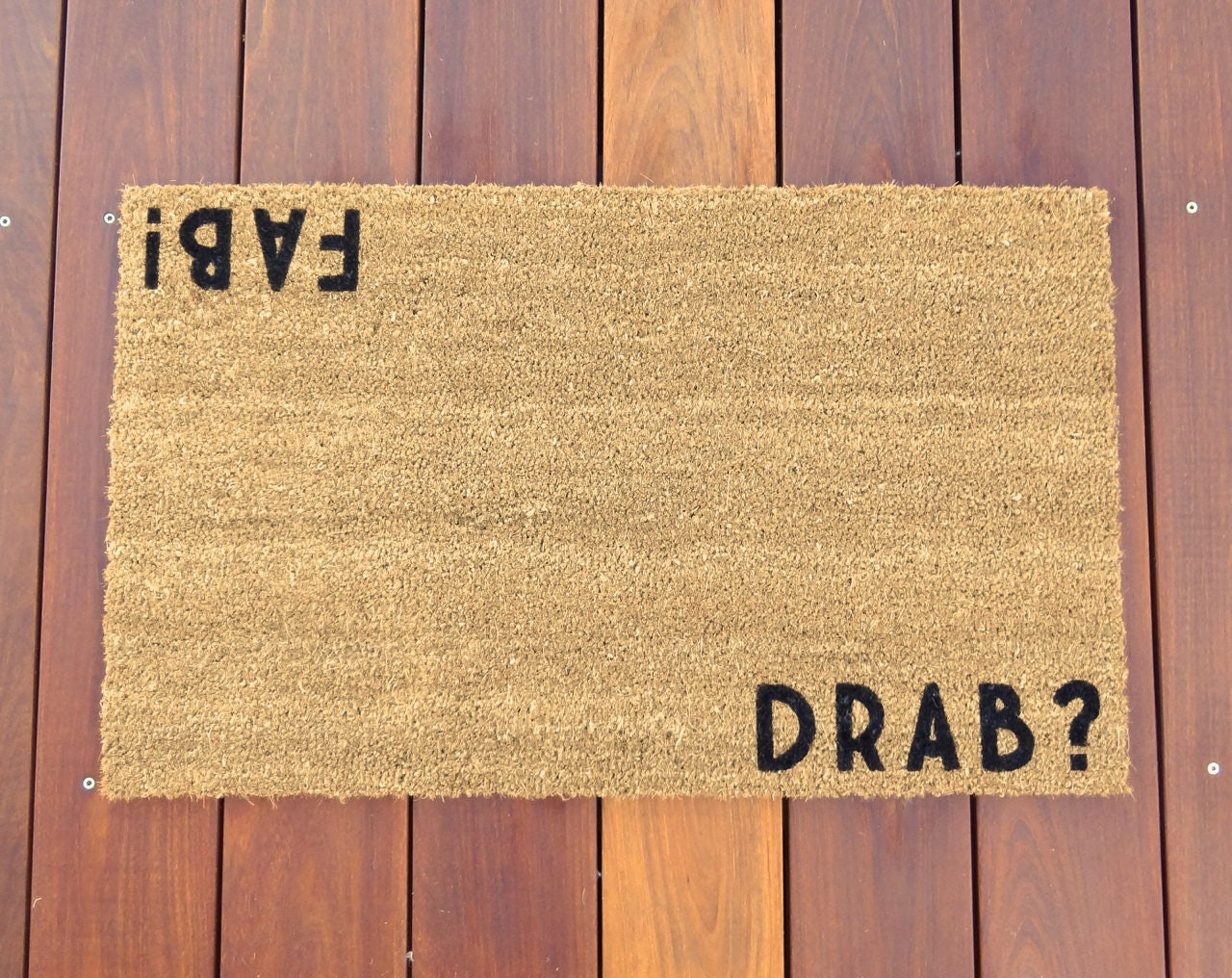 Drab Fab 169 Door Mat Doormat Salon Decor Spa Decor Etsy