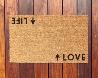 Life / Love™ Door Mat (doormat) - perfect housewarming gift