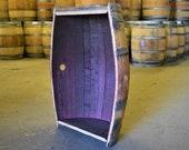 LOCAL PICK UP Only - Oak Red Wine Barrel Cradle Cut Planter - Vertical Cut Barrel Planter, Wood Planter, Oak Barrel Planter, Wine Barrel Bar