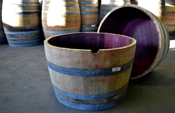 Local Pickup Only Half Wine Barrel Planter Made From Napa Etsy